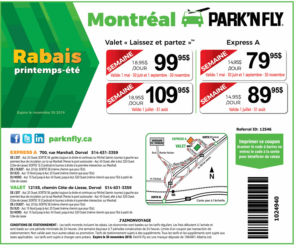 Park and fly discount coupon